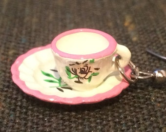 Tea Time Cup and Saucer Earrings