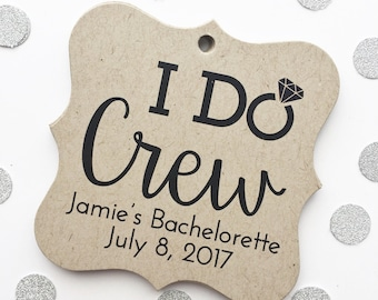I Do Crew, Kraft Customized Bachelorette Party Tags, Engaged Favor Tags (FS-192-KR)