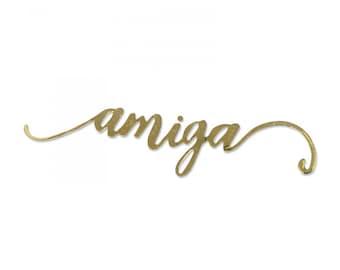New! Sizzix Thinlits Die Set 2PK - Amiga y Amigo (Girl Friend & Boy Friend) by Luisa Elena Guillen-K 662946