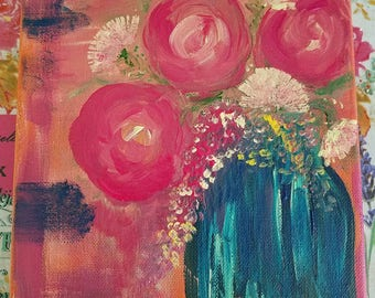 Roses Acrylic Painting