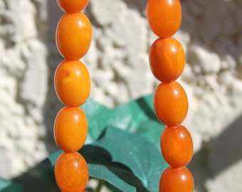 Cognac amber beads necklace