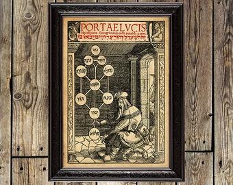 Sefirotic Tree, Sephirot, Tree of Life, hebrew, Sephiroth, ritual, ritual poster, kabbalah, Qabalah, mystic art, metaphysical wall art,  280