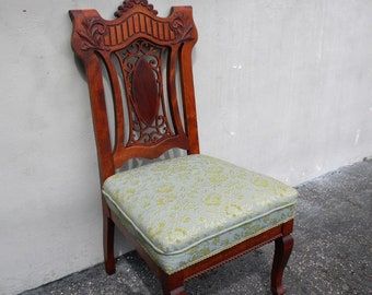Early Victorian Cherry Carved Side Chair 5813