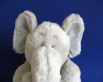Vintage Elephant Stuffed Animal GUND 1990s Toys Kids Toy Light Gray Big Ears Sitting African Elephant African Animal Safari Anaimal Plush