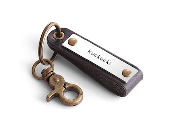 Personalized Mes Leather Keychain - Custom Leather Keychain for Men - Graduation Gift - Groomsmen Gift