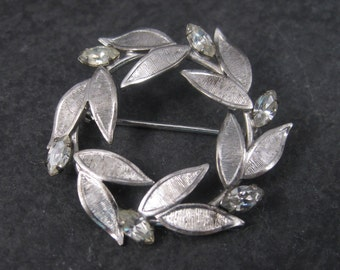 Vintage Carl Art Rhinestone Circle Brooch