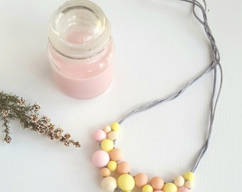 Sunshine Silicone and Wood Statement Necklace