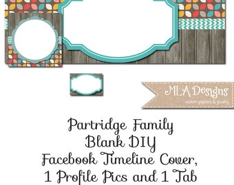 Blank Facebook Timeline Set - Partridge Family - Customize for your Facebook Business or Personal Page
