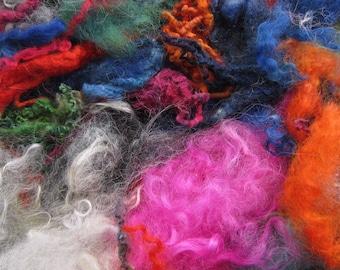 WASTE CURLY LOCKS Off Cuts. 25g Bag. Wool Locks Waste. Felting. Spinning. Crafts