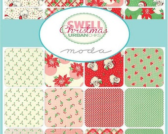 Swell Christmas - Fat Quarter Bundle - Christmas Fabric - Urban Chiks - Moda Fabric
