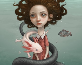 "Thomas Ascott's ""Submerged"" Print - Signed by the artist"