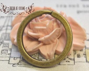 Lot de 5  28mm,anneau,l'ouvrir,clé,Bronze