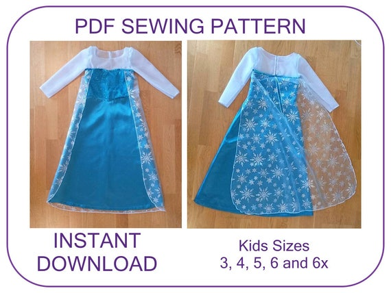 Awesome Sewing Pattern For Elsa Dress Component - Easy Scarf ...