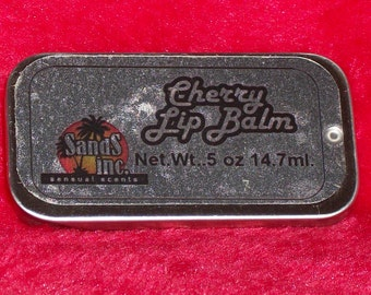 Cherry Lip Balm in a sliding tin