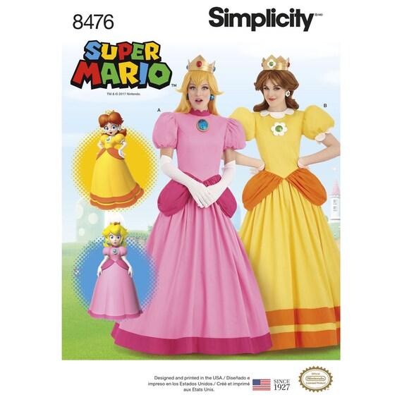 Nintendo Super Mario Bros princesa Peach y Daisy traje de princesa ...