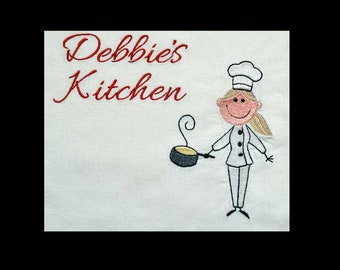 Personalized Towel, Dish Towel, Flour Sack Towel, Chef Decor, kitchen Decor,  Embroidered Towel, Kitchen Towel, Chef Towel