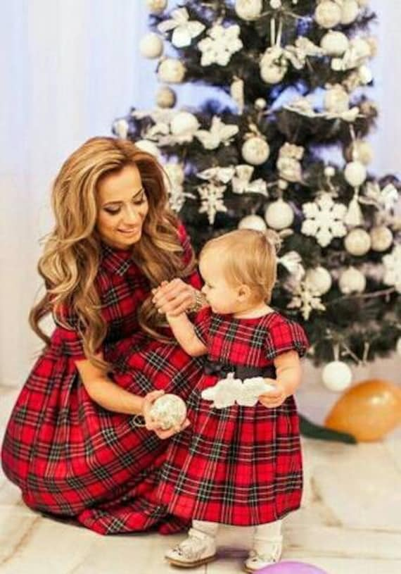 items similar to plaid mother daughter matching dress
