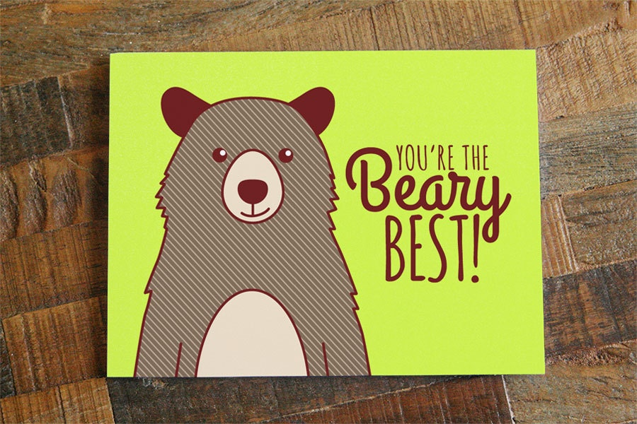 Friendship or Card You're the Beary Best pun