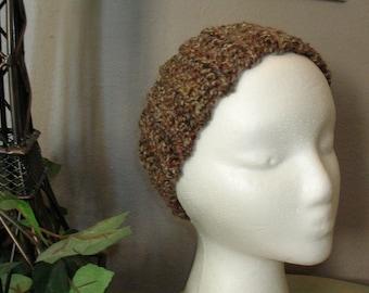 Brown Crochet Head Band - Ear Warmer - Hair Accessories - Winter Hat - Warm Headband - Bulky Crochet Ear Muff