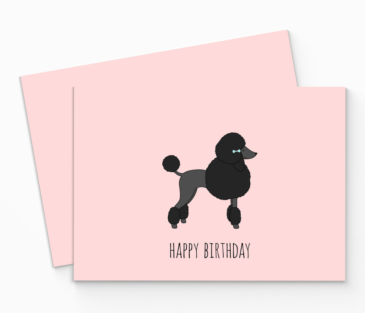 Printable poodle birthday card digital happy birthday poodle zoom pronofoot35fo Images