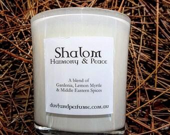 Soycandles Handmade EcoFriendly Shalom Fragrance.