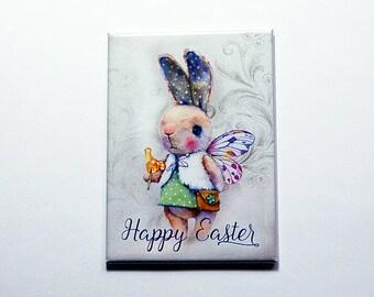 Easter Bunny Magnet, Easter Magnet, Kitchen magnet, ACEO, Fridge magnet, Easter gift, Bunny, Rabbit, easter card, easter bunny (7137)
