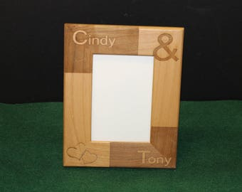 Personalized Picture Frame.  Customized Picture Frame.  Boyfriend, Girlfriend.  Couples.