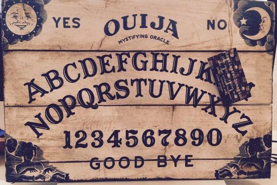 & Ouija Board Pallet Wood Wall Art