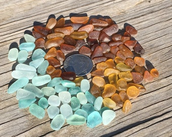 Genuine Sea Glass, Seafoam, Quality, Glass Beach Sea Glass, TINIES, 5mm, Miniature Landscape, Terrarium Gravel, Tiny Pebbles