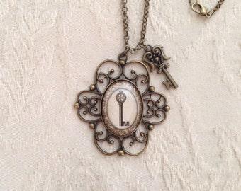Fancy Vintage Key Necklace