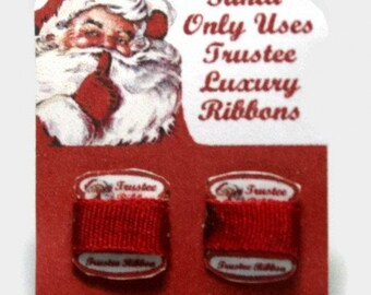Trustee Ribbon Sales Card Dolls House Miniature - 12th Scale