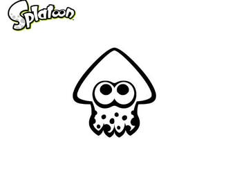 Splatoon Squid Vinyl Decal
