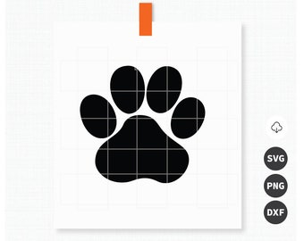 Paw Print SVG, PNG, DXF Files