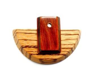 1 Wooden Focal Pendant - 22-37-4