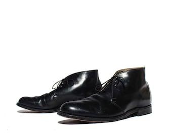 13 EE | Men's Black Leather Dress Boot 1950's 1960's B.F. Goodrich Heel Caps All Leather Dapper Shoe