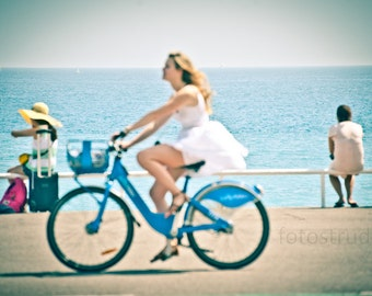 The Joy of Cycling 1. Fahrrad/Cycling/le Velo  in Nice, France, French Riviera. 8x12