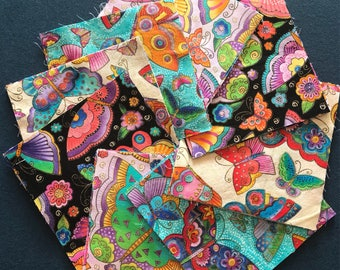 Laurel Burch flying colours Fabric 6 inch mixed charm squares x48