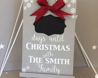 Family Christmas sign Christmas countdown Christmas chalkboard Christmas with the Christmas countdown sign advent calendar family Christmas