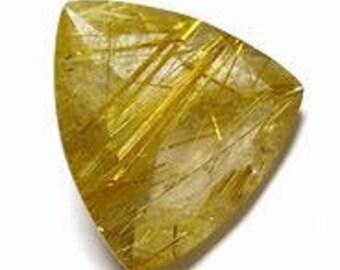 10 pieces natural lemon quartz  faceted trillion shape gemstone