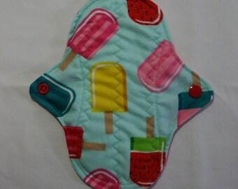 ZORB Kiki Mama Cloth Panty Liner Menstrual Pad  Ice Cream Pop
