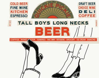 Shoes & beers - DIGITAL FILE PRINT - Mix of illustration and digital collages