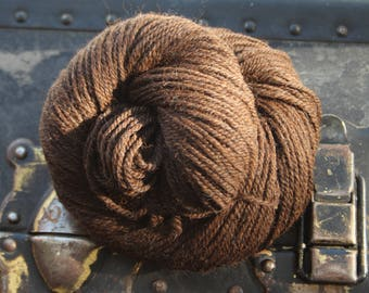 Hey, Sugar! Alpaca and Merino 50/50 3-ply Aran weight Vermont Farm Yarn 100gram 165 yard Natural Color Brown