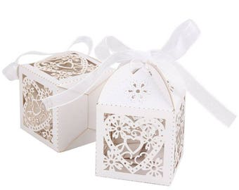 heart Love  heart candy box  Candy Box Treat Boxes  Birthday Boxes  Party Boxes Birthday Party Gift Box Favor Boxes -Wedding Favor