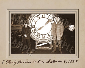 Back to the Future Prop 1885 Clock Photo Digital Download