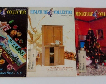 Dollhouse Miniature Magazines 1979 Miniature Collector Issues August October December Guide to Miniatures 3 Magazines
