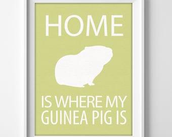 Guinea Pig Personalized Home Decor Wall Art Print