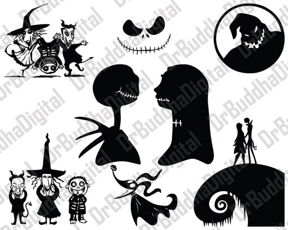sale nightmare before christmas svg collection nightmare rh etsy com nightmare before christmas characters clipart nightmare before christmas clips