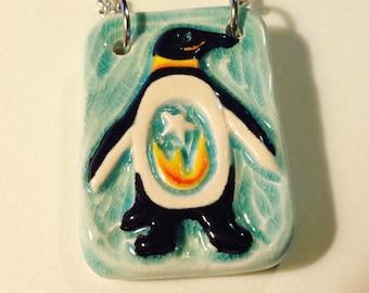 Penguin Ceramic Porcelain Necklace