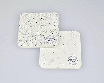 White Yoghurt Pot Coasters - Housewarming Gifts - Table Decor
