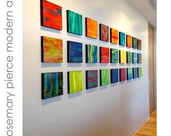 Modern Wall Sculptures   Painted Wood Art   Art Installation   Abstract Panels   Contemporary Art   Custom Art   Wood Art   Rosemary Pierce